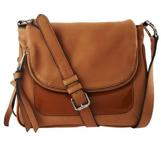 Aimee Kestenberg Leather Flap Front Crossbody Bag