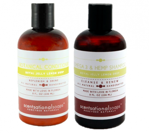 Royal Jelly Lemon Drop Shampoo and Conditioner from Scentsational Soaps