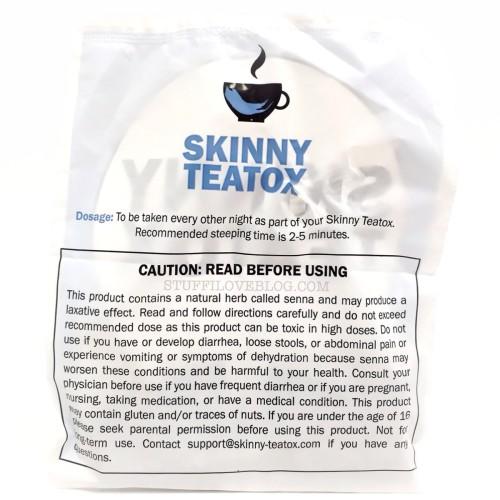 Skinny Teatox Caution Label