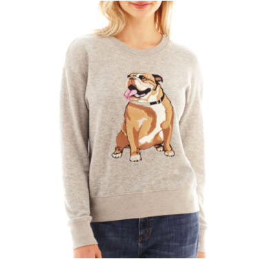 I HEART RONSON BULLDOG SWEATER