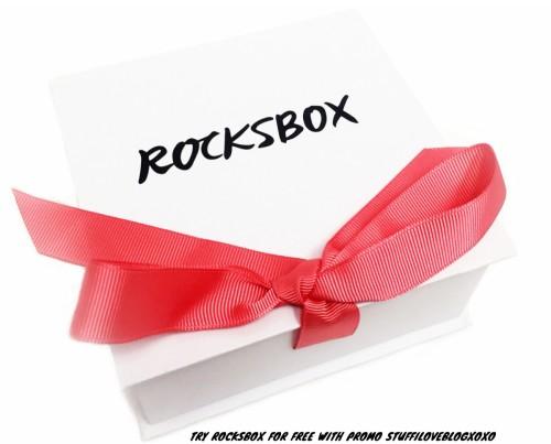 Try ROCKSBOX for free with promo code STUFFILOVEBLOGXOXO