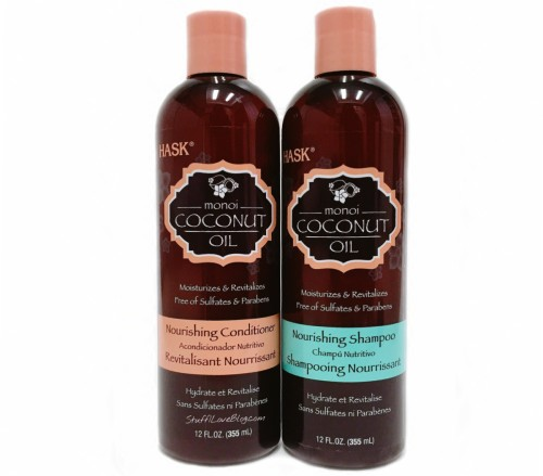 HASK Monoi Coconut Oil Shampoo and Conditioner